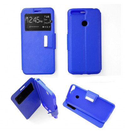 Etui Folio Huawei Y6 2018 - Bleu
