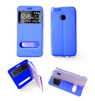 Etui Folio Huawei Y9 2018 - Bleu