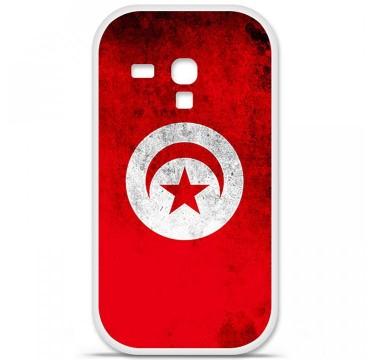 Coque en silicone pour Samsung Galaxy S3 Mini - Drapeau Tunisie