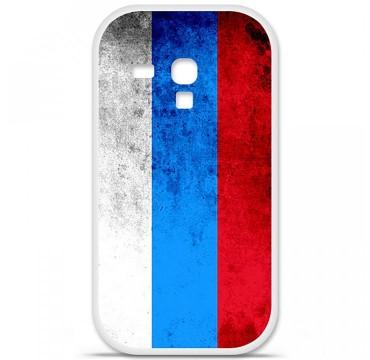 Coque en silicone pour Samsung Galaxy S3 Mini - Drapeau Russie