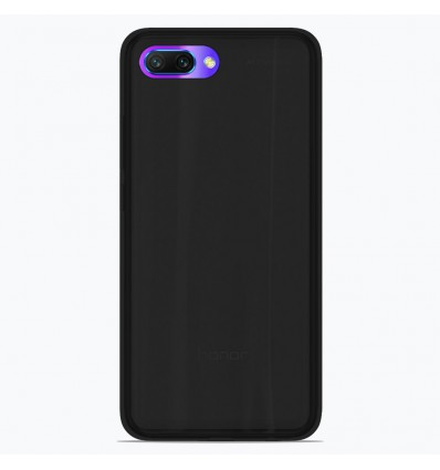 Coque Huawei Honor 10 Silicone Gel givré - Noir