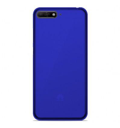 Coque Huawei Honor 7A Silicone Gel givré - Bleu Translucide