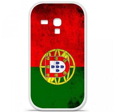 Coque en silicone Samsung Galaxy S3 Mini - Drapeau Portugal