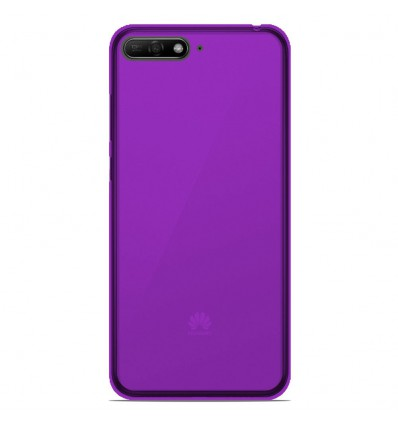 Coque Huawei Honor 7A Silicone Gel givré - Violet Translucide