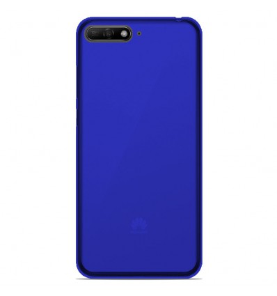 Coque Huawei Y6 2018 Silicone Gel givré - Bleu Translucide