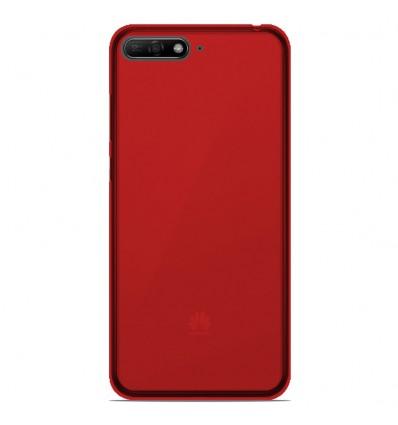 Coque Huawei Y6 2018 Silicone Gel givré - Rouge Translucide