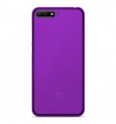 Coque Huawei Y6 2018 Silicone Gel givré - Violet Translucide