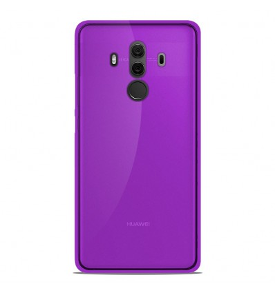 Coque Huawei Mate 10 Pro Silicone Gel givré - Violet Translucide