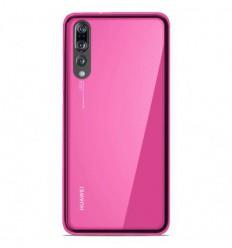 Coque Huawei P20 Pro Silicone Gel givré - Rose Translucide