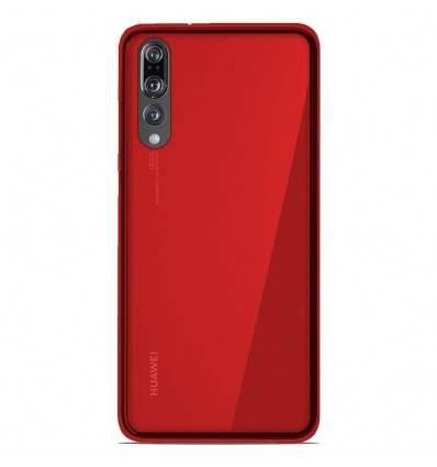 Coque Huawei P20 Pro Silicone Gel givré - Rouge Translucide
