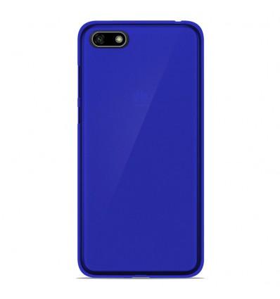 Coque Huawei Y5 2018 Silicone Gel givré - Bleu Translucide