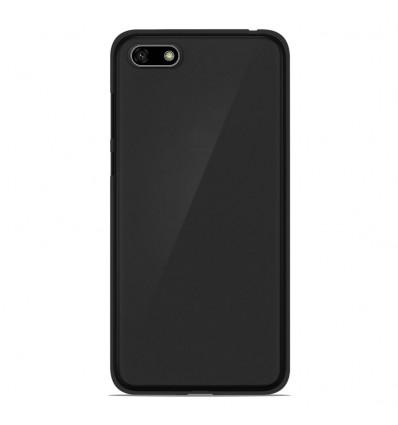 Coque Huawei Honor 7S Silicone Gel givré - Noir