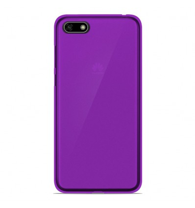 Coque Huawei Honor 7S Silicone Gel givré - Violet Translucide
