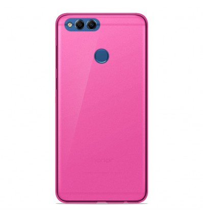 Coque Huawei Y9 2018 Silicone Gel givré - Rose Translucide