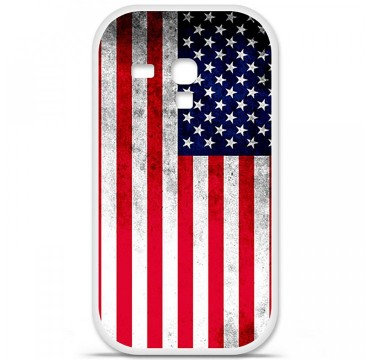 Coque en silicone Samsung Galaxy S3 Mini - Drapeau USA