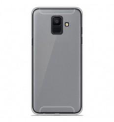 Coque Samsung Galaxy A6 2018 Silicone Gel givré - Blanc Translucide