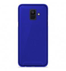 Coque Samsung Galaxy A6 2018 Silicone Gel givré - Bleu Translucide