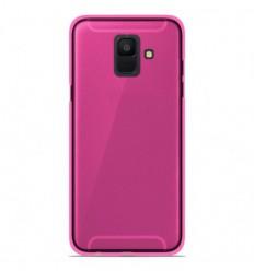 Coque Samsung Galaxy A6 2018 Silicone Gel givré - Rose Translucide