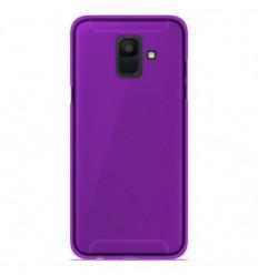 Coque Samsung Galaxy A6 2018 Silicone Gel givré - Violet Translucide