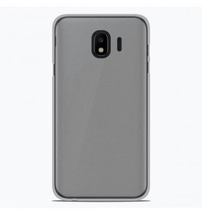 Coque Samsung Galaxy J4 2018 Silicone Gel givré - Blanc Translucide