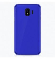 Coque Samsung Galaxy J4 2018 Silicone Gel givré - Bleu Translucide