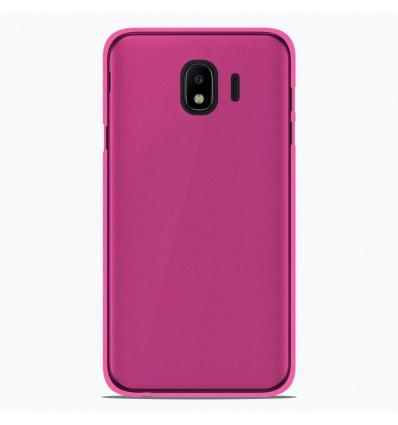 Coque Samsung Galaxy J4 2018 Silicone Gel givré - Rose Translucide