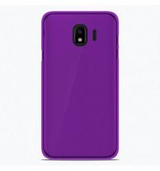 Coque Samsung Galaxy J4 2018 Silicone Gel givré - Violet Translucide
