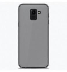Coque Samsung Galaxy J6 2018 Silicone Gel givré - Blanc Translucide