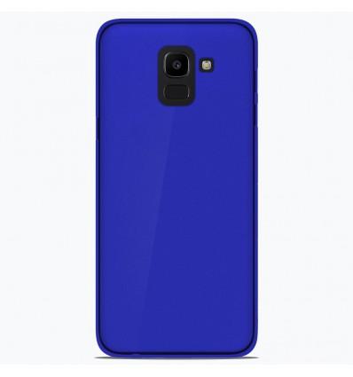 Coque Samsung Galaxy J6 2018 Silicone Gel givré - Bleu Translucide