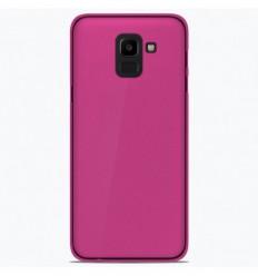 Coque Samsung Galaxy J6 2018 Silicone Gel givré - Rose Translucide