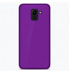 Coque Samsung Galaxy J6 2018 Silicone Gel givré - Violet Translucide