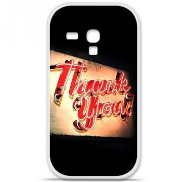 Coque en silicone Samsung Galaxy S3 Mini - Thank You
