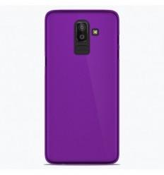 Coque Samsung Galaxy J8 2018 Silicone Gel givré - Violet Translucide