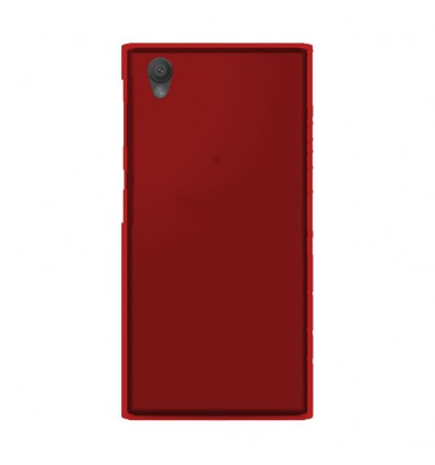 Coque Sony Xperia L1 Silicone Gel givré - Rouge Translucide
