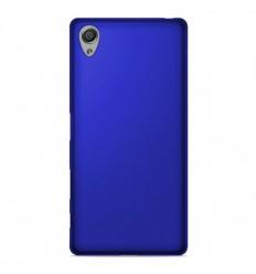 Coque Sony Xperia XA Silicone Gel givré - Bleu Translucide