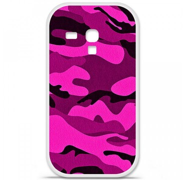 Coque en silicone pour Samsung Galaxy S3 Mini - Camouflage rose