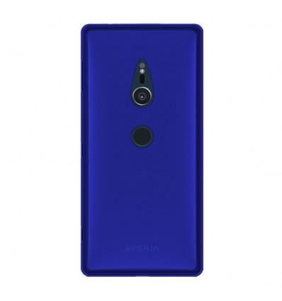 Coque Sony Xperia XZ2 Silicone Gel givré - Bleu Translucide