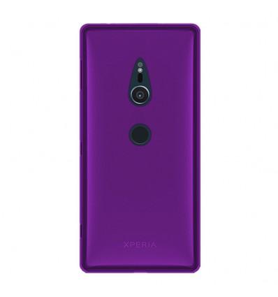 Coque Sony Xperia XZ2 Silicone Gel givré - Violet Translucide