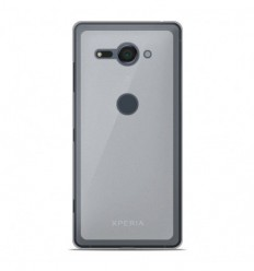 Coque Sony Xperia XZ2 Compact Silicone Gel givré - Blanc Translucide