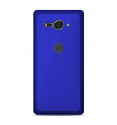 Coque Sony Xperia XZ2 Compact Silicone Gel givré - Bleu Translucide