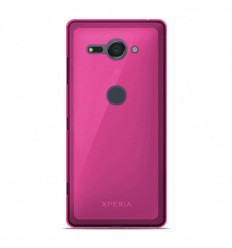 Coque Sony Xperia XZ2 Compact Silicone Gel givré - Rose Translucide