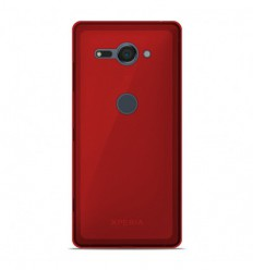Coque Sony Xperia XZ2 Compact Silicone Gel givré - Rouge Translucide