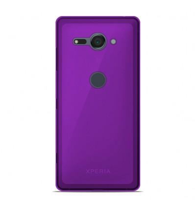 Coque Sony Xperia XZ2 Compact Silicone Gel givré - Violet Translucide