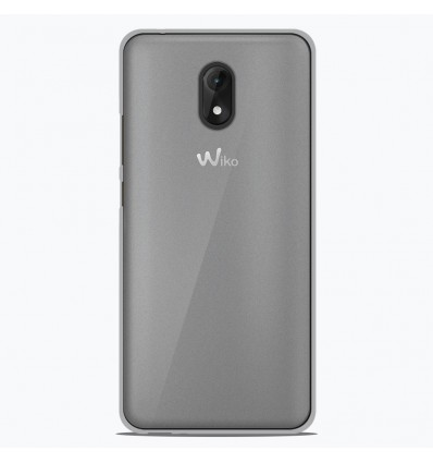 Coque Wiko Lenny 5 Silicone Gel givré - Blanc Translucide