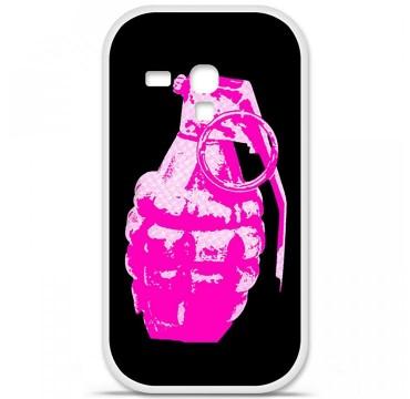 Coque en silicone pour Samsung Galaxy S3 Mini - Grenade rose