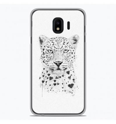Coque en silicone Samsung Galaxy J2 Pro 2018 - BS Love leopard