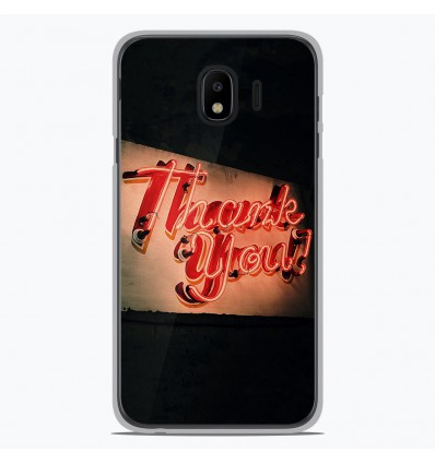 Coque en silicone Samsung Galaxy J2 Pro 2018 - Thank You