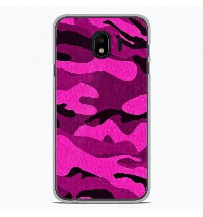 Coque en silicone Samsung Galaxy J2 Pro 2018 - Camouflage rose