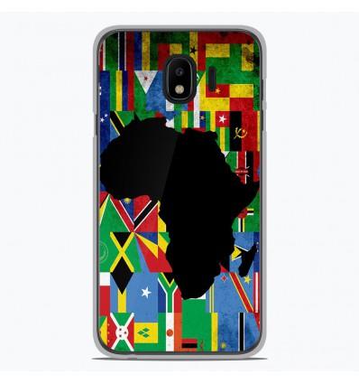 Coque en silicone Samsung Galaxy J2 Pro 2018 - Drapeau Afrique