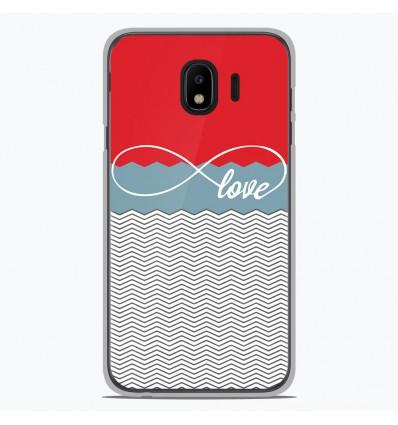 Coque en silicone Samsung Galaxy J2 Pro 2018 - Love Rouge